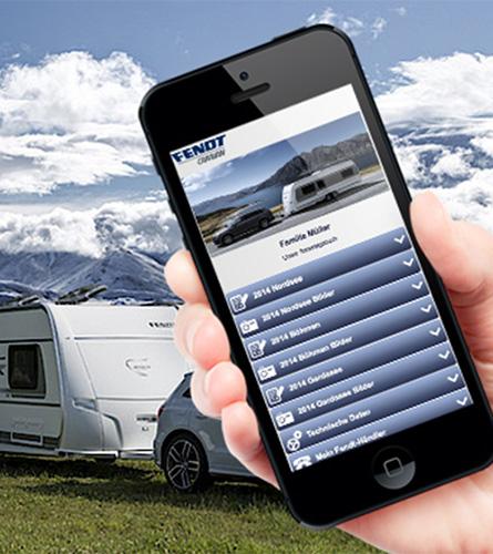 Fendt bringt zur CMT 2015 das mobile Caravan-Bordbuch